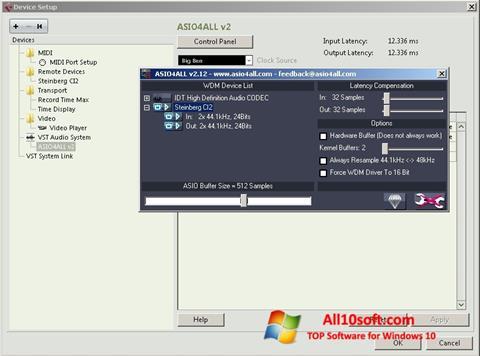 لقطة شاشة ASIO4ALL لنظام التشغيل Windows 10