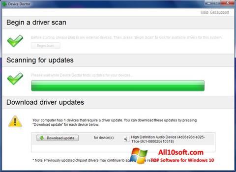 لقطة شاشة Device Doctor لنظام التشغيل Windows 10