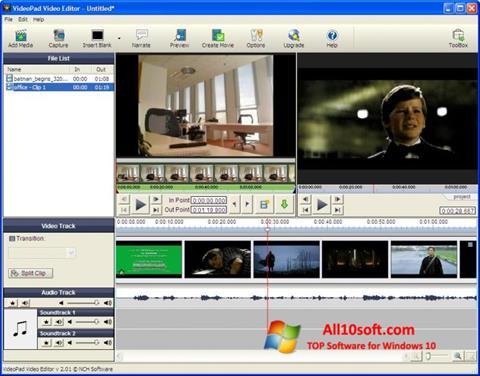 لقطة شاشة VideoPad Video Editor لنظام التشغيل Windows 10