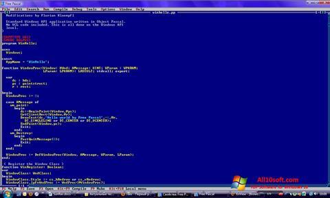 لقطة شاشة Free Pascal لنظام التشغيل Windows 10