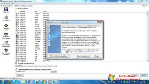 لقطة شاشة BadCopy Pro لنظام التشغيل Windows 10