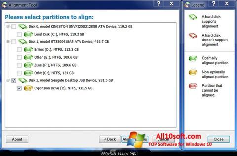 لقطة شاشة Paragon Alignment Tool لنظام التشغيل Windows 10