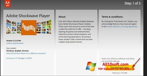 لقطة شاشة Shockwave Player لنظام التشغيل Windows 10