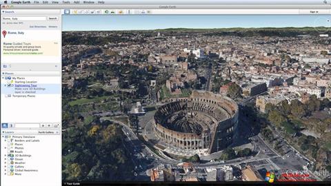 لقطة شاشة Google Earth لنظام التشغيل Windows 10