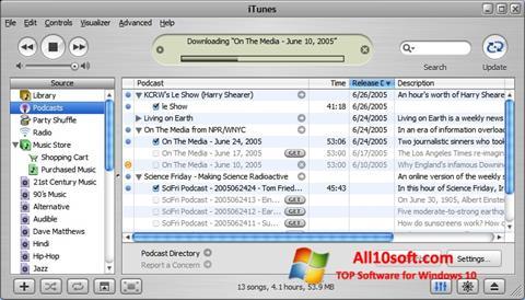 لقطة شاشة iTunes لنظام التشغيل Windows 10