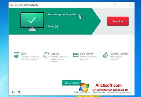 لقطة شاشة Kaspersky AntiVirus لنظام التشغيل Windows 10