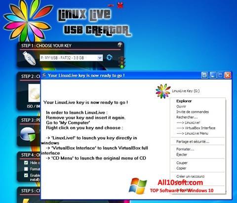 لقطة شاشة LinuxLive USB Creator لنظام التشغيل Windows 10