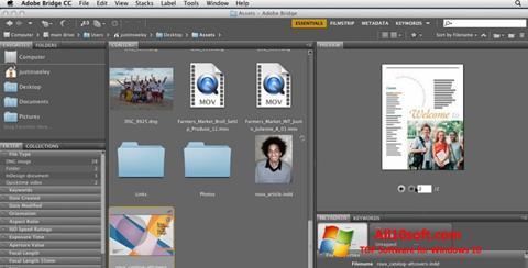 لقطة شاشة Adobe Bridge لنظام التشغيل Windows 10