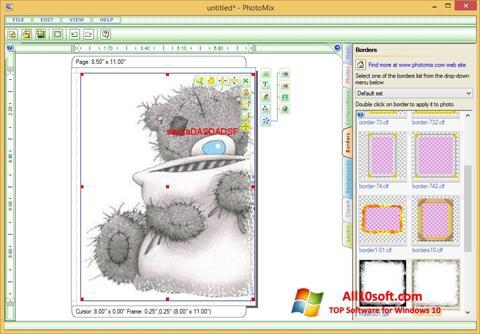 لقطة شاشة PhotoMix Collage لنظام التشغيل Windows 10