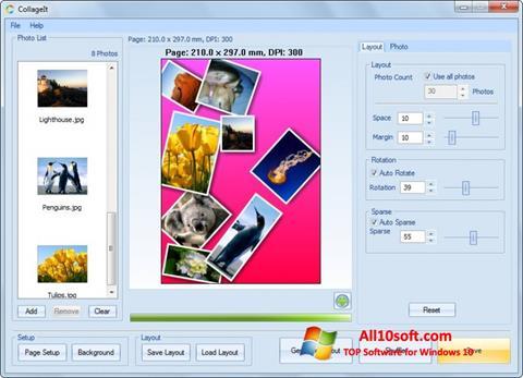 لقطة شاشة CollageIt لنظام التشغيل Windows 10