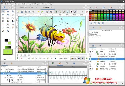 لقطة شاشة Synfig Studio لنظام التشغيل Windows 10