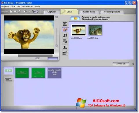 لقطة شاشة WinDVD Creator لنظام التشغيل Windows 10