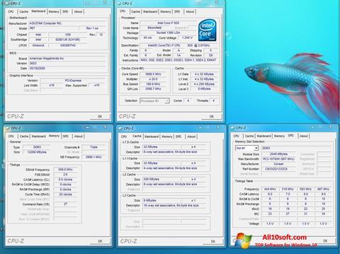 لقطة شاشة CPU-Z لنظام التشغيل Windows 10