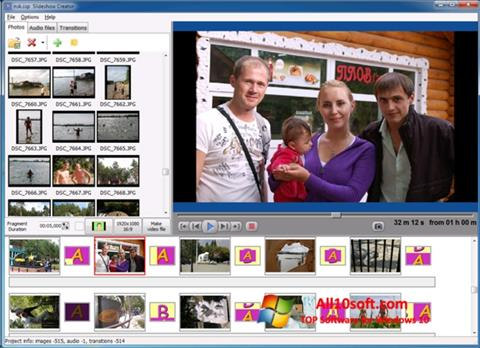لقطة شاشة Bolide Slideshow Creator لنظام التشغيل Windows 10