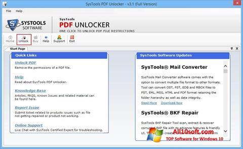 لقطة شاشة PDF Unlocker لنظام التشغيل Windows 10