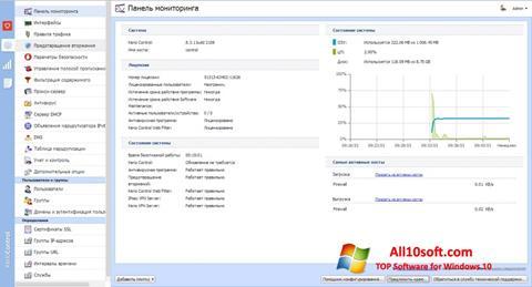 لقطة شاشة Kerio Control لنظام التشغيل Windows 10