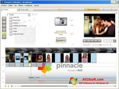 لقطة شاشة Pinnacle VideoSpin لنظام التشغيل Windows 10