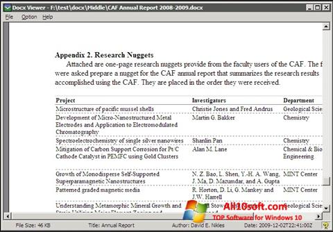 لقطة شاشة DocX Reader لنظام التشغيل Windows 10