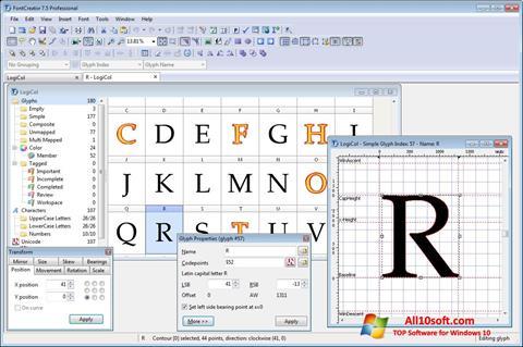 لقطة شاشة Font Creator لنظام التشغيل Windows 10