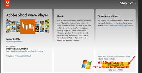 لقطة شاشة Adobe Shockwave Player لنظام التشغيل Windows 10