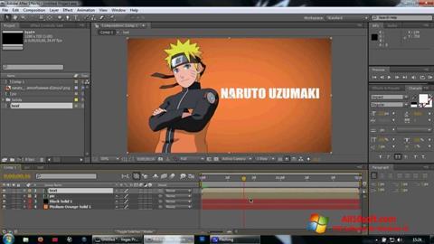 لقطة شاشة Adobe After Effects لنظام التشغيل Windows 10