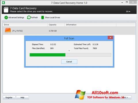 لقطة شاشة CardRecovery لنظام التشغيل Windows 10