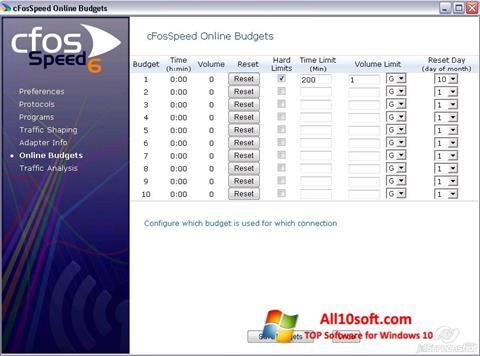 لقطة شاشة cFosSpeed لنظام التشغيل Windows 10