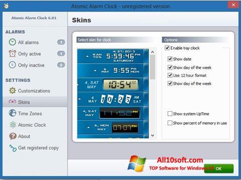 لقطة شاشة Atomic Alarm Clock لنظام التشغيل Windows 10