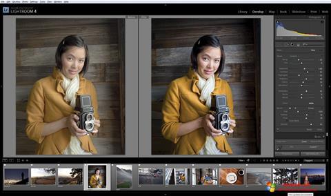 لقطة شاشة Adobe Photoshop Lightroom لنظام التشغيل Windows 10