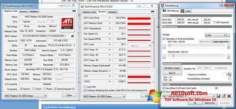 لقطة شاشة ATI Tray Tools لنظام التشغيل Windows 10