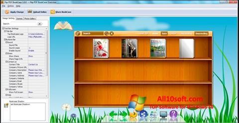 لقطة شاشة Bookshelf لنظام التشغيل Windows 10