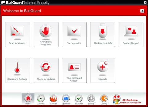 لقطة شاشة BullGuard لنظام التشغيل Windows 10