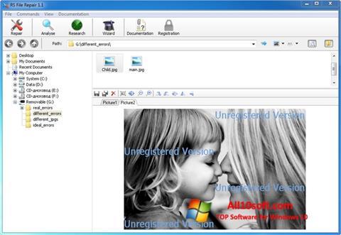 لقطة شاشة File Repair لنظام التشغيل Windows 10