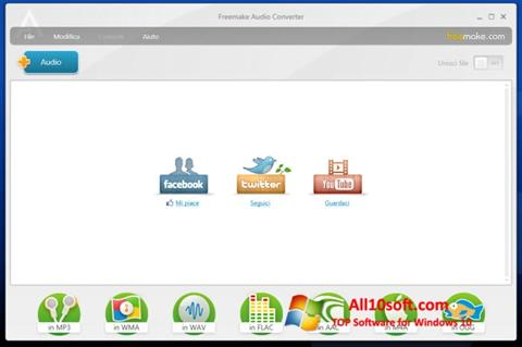 لقطة شاشة Freemake Audio Converter لنظام التشغيل Windows 10