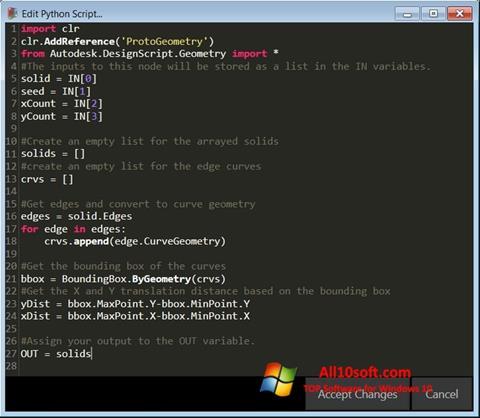 لقطة شاشة Python لنظام التشغيل Windows 10