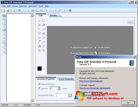 لقطة شاشة Easy GIF Animator لنظام التشغيل Windows 10