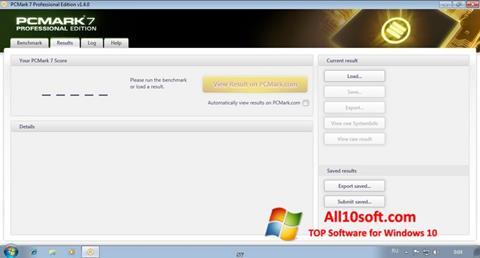 لقطة شاشة PCMark لنظام التشغيل Windows 10