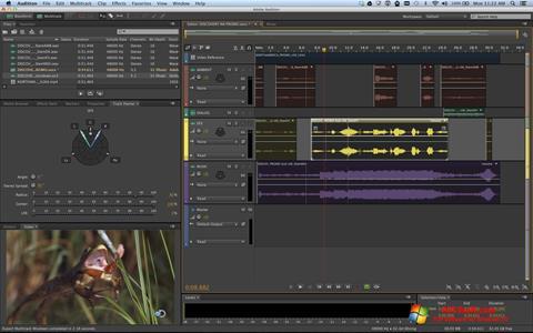 لقطة شاشة Adobe Audition لنظام التشغيل Windows 10