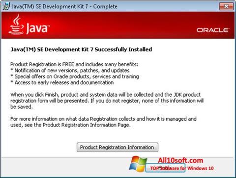 لقطة شاشة Java لنظام التشغيل Windows 10