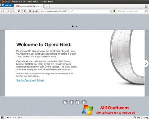 لقطة شاشة Opera Developer لنظام التشغيل Windows 10