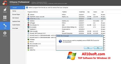 لقطة شاشة CCleaner Professional Plus لنظام التشغيل Windows 10