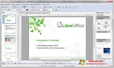 لقطة شاشة LibreOffice لنظام التشغيل Windows 10
