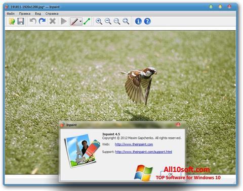 لقطة شاشة Inpaint لنظام التشغيل Windows 10