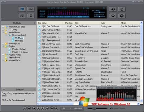 لقطة شاشة JetAudio لنظام التشغيل Windows 10