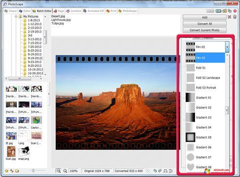 لقطة شاشة PhotoScape لنظام التشغيل Windows 10