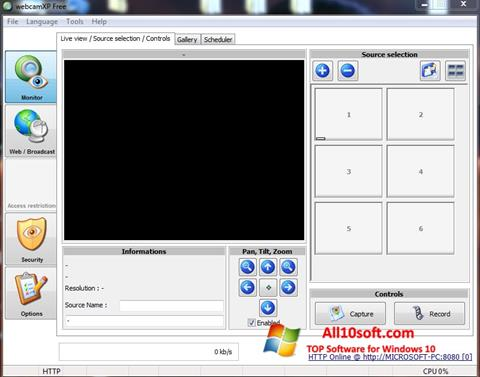 لقطة شاشة webcamXP لنظام التشغيل Windows 10