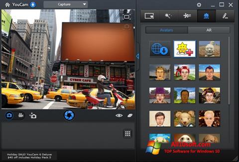 لقطة شاشة CyberLink YouCam لنظام التشغيل Windows 10