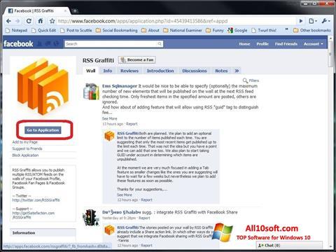 لقطة شاشة Facebook لنظام التشغيل Windows 10