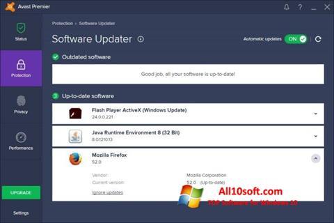 لقطة شاشة Avast Premier لنظام التشغيل Windows 10
