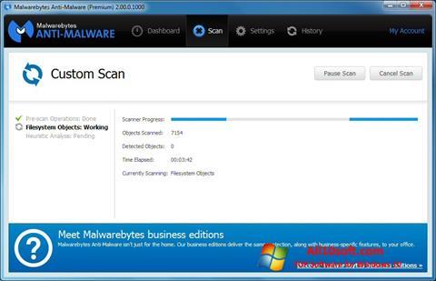 لقطة شاشة Malwarebytes Anti-Malware Free لنظام التشغيل Windows 10